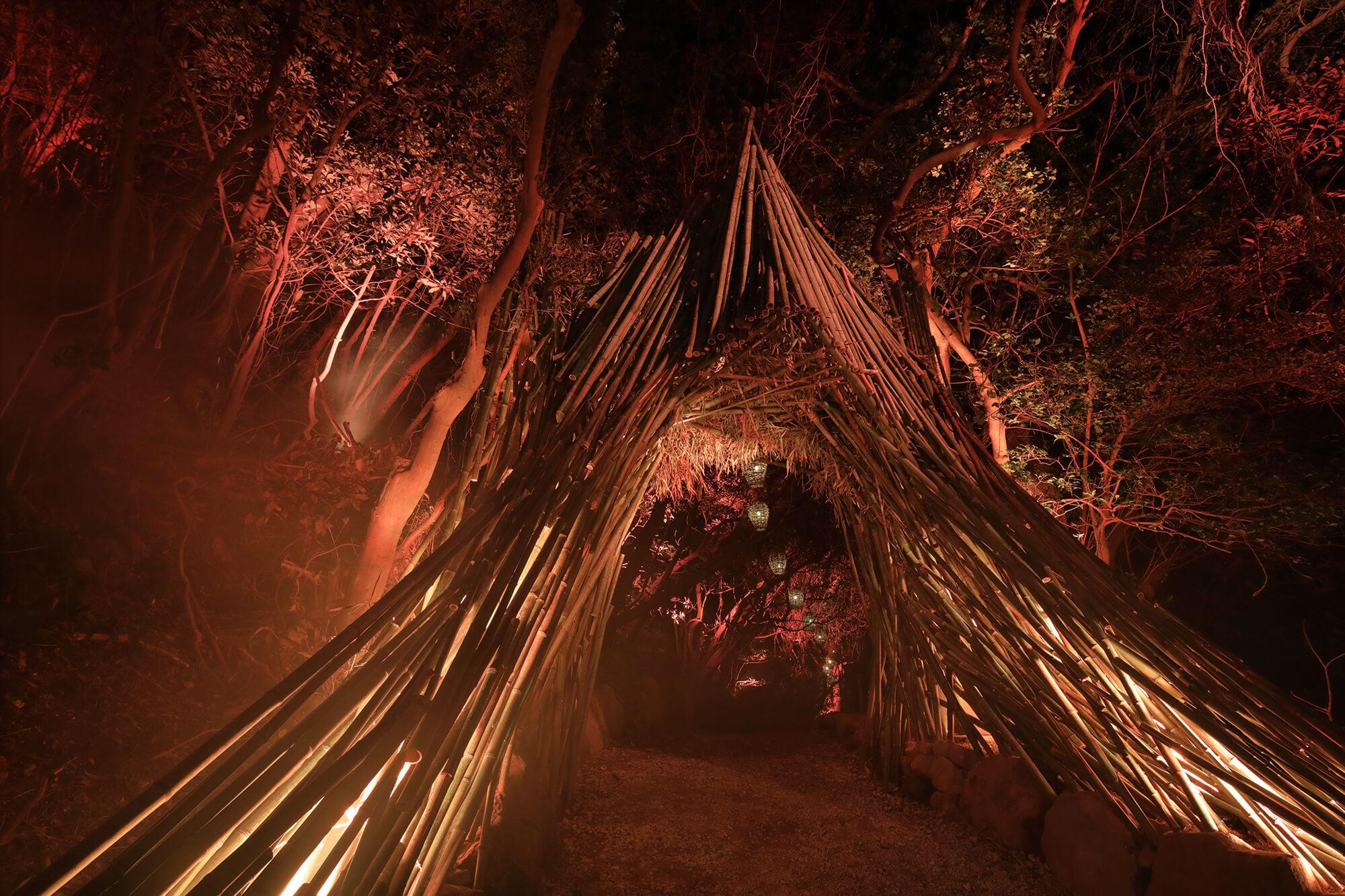 『ISLAND LUMINA 自然を舞台にしたマルチメディア・ナイトウォーク』-i+Land nagasaki 長崎県・伊王島-建築写真・竣工写真・インテリア写真1