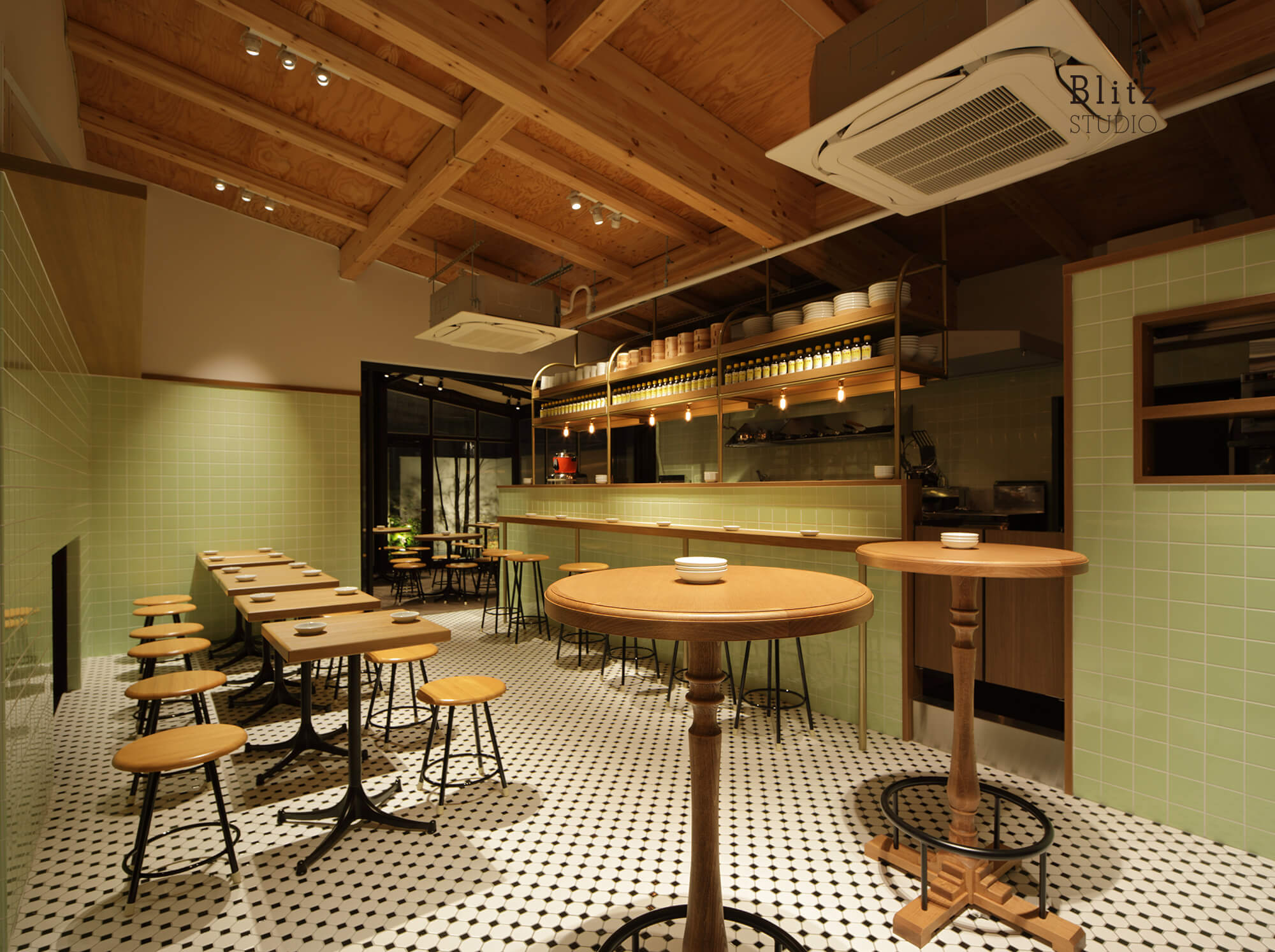 『豆皿中華Q』-福岡県福岡市-建築写真・竣工写真・インテリア写真1