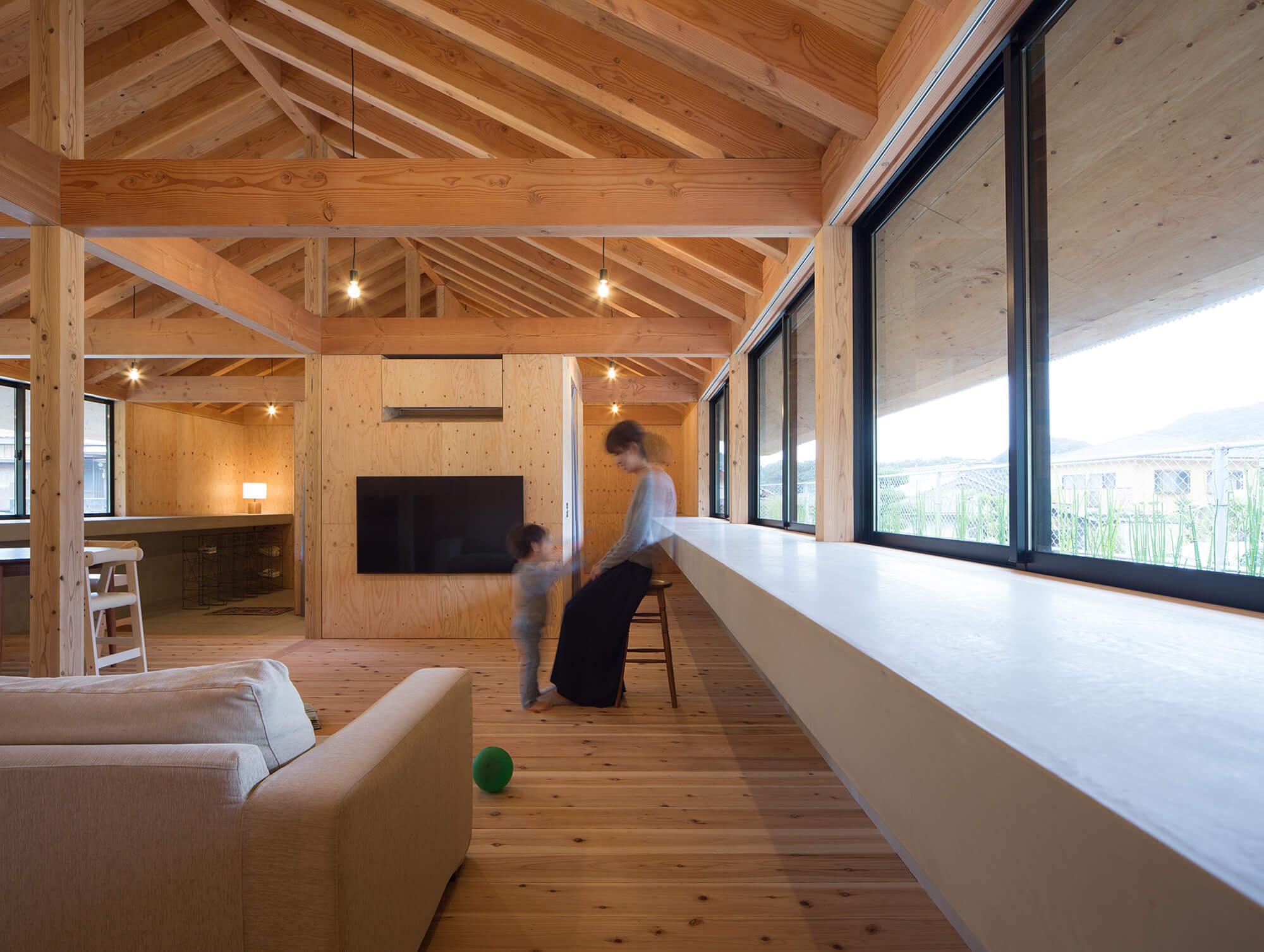 『大屋根の棲家』建築写真・竣工写真・インテリア写真12
