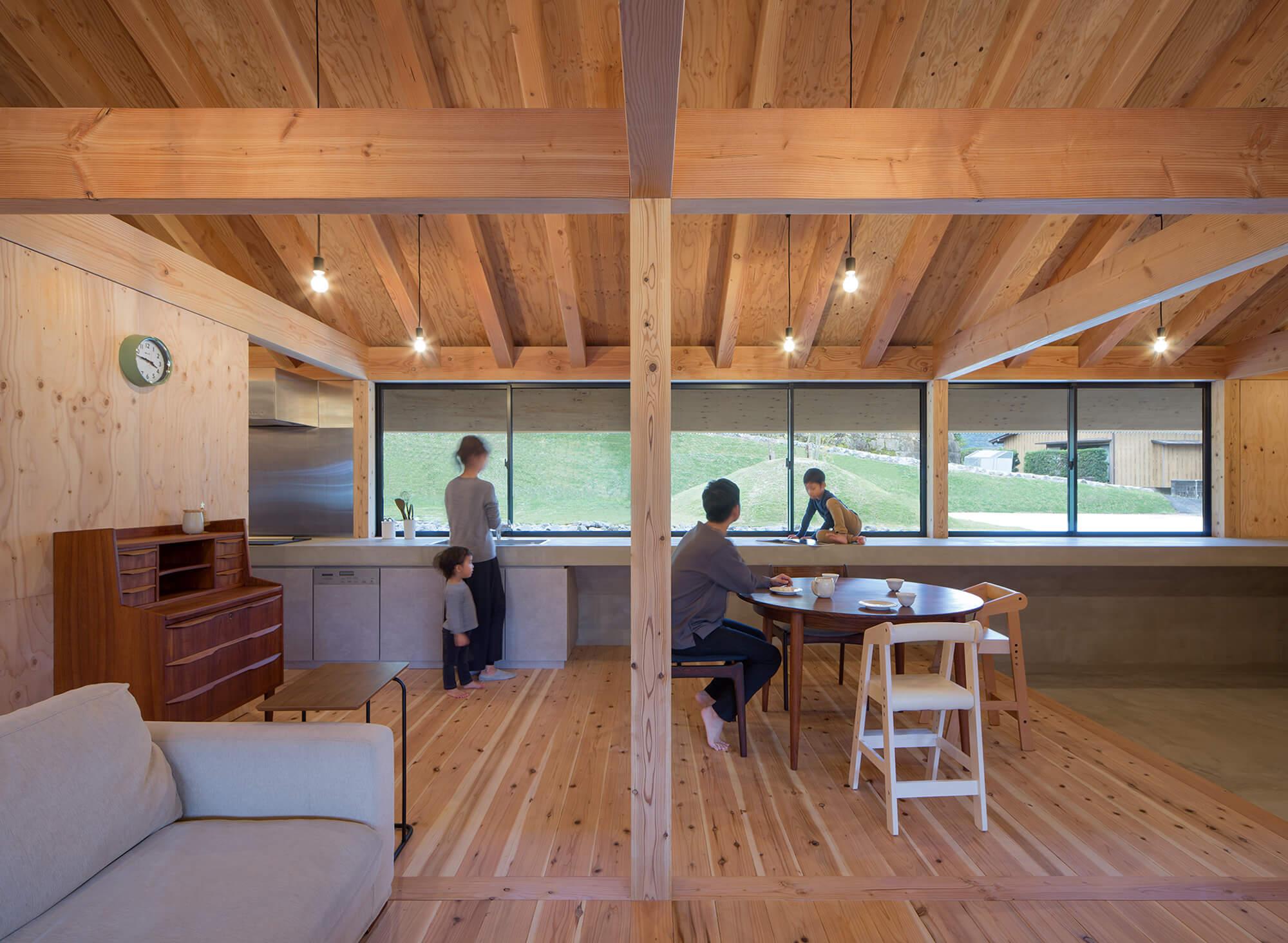 『大屋根の棲家』建築写真・竣工写真・インテリア写真13