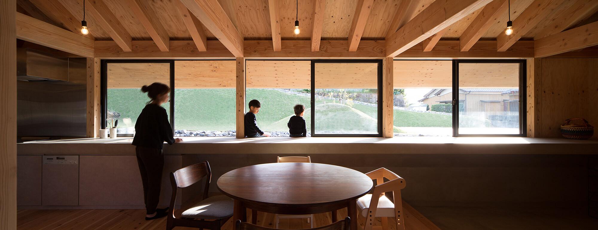 『大屋根の棲家』建築写真・竣工写真・インテリア写真14