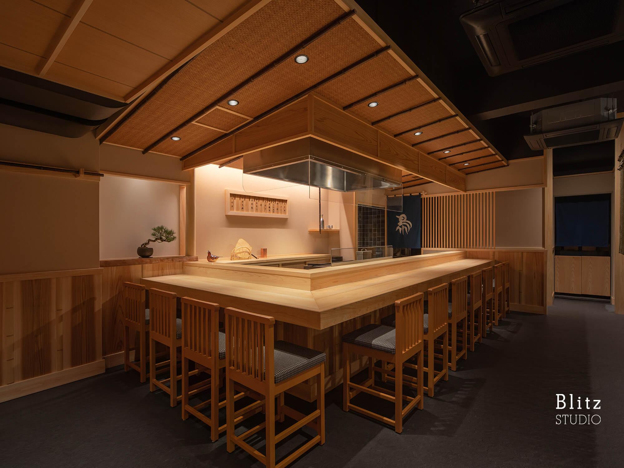 『焼鳥 よし川』-福岡県福岡市-建築写真・竣工写真・インテリア写真3