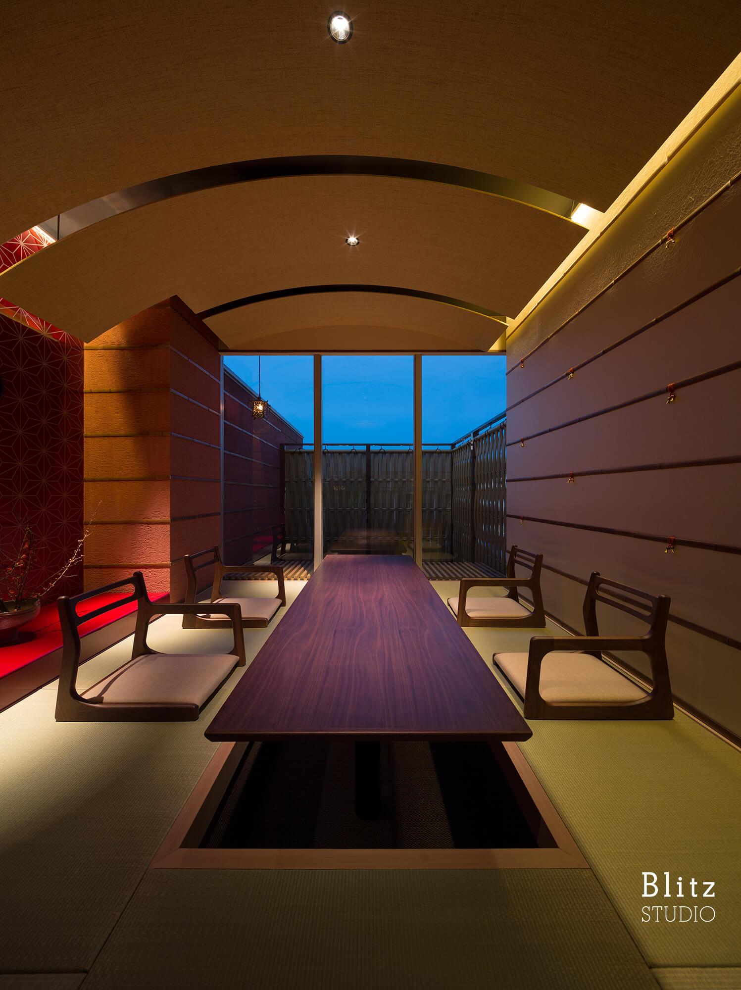 『ダイニングレストラン つきみち』建築写真・竣工写真・インテリア写真12
