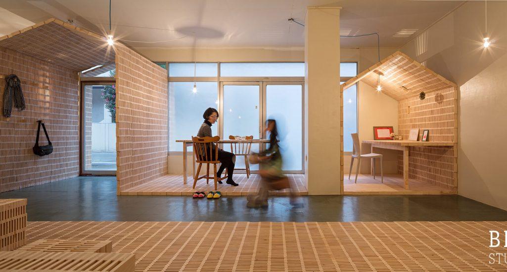 『hundehutte/フンデヒュッテ<br>かまぼこ板で作る空間』-宮崎県延岡市-建築写真・竣工写真・インテリア写真