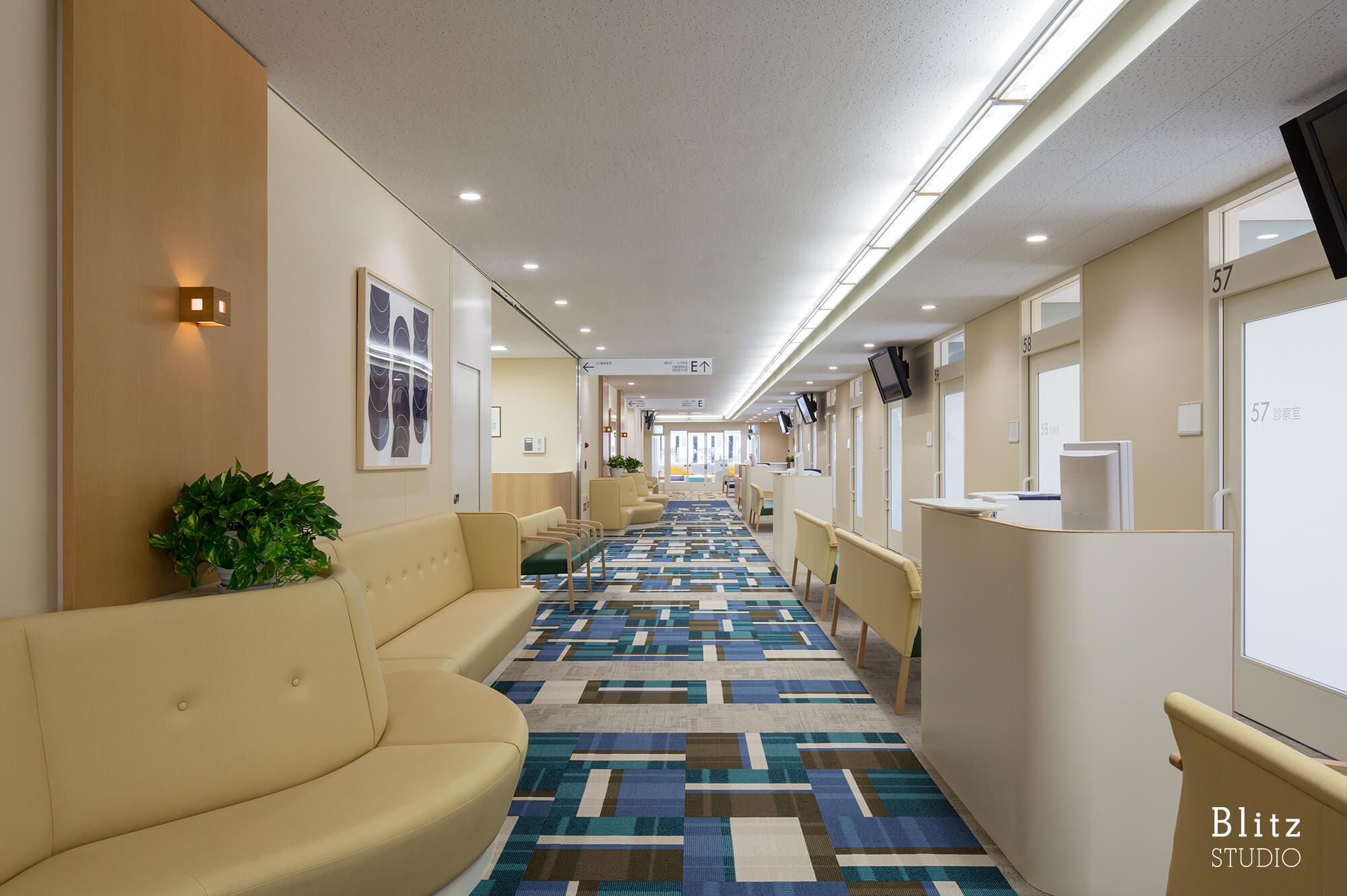 『国家公務員共済組合連合会 浜の町病院』建築写真・竣工写真・インテリア写真13
