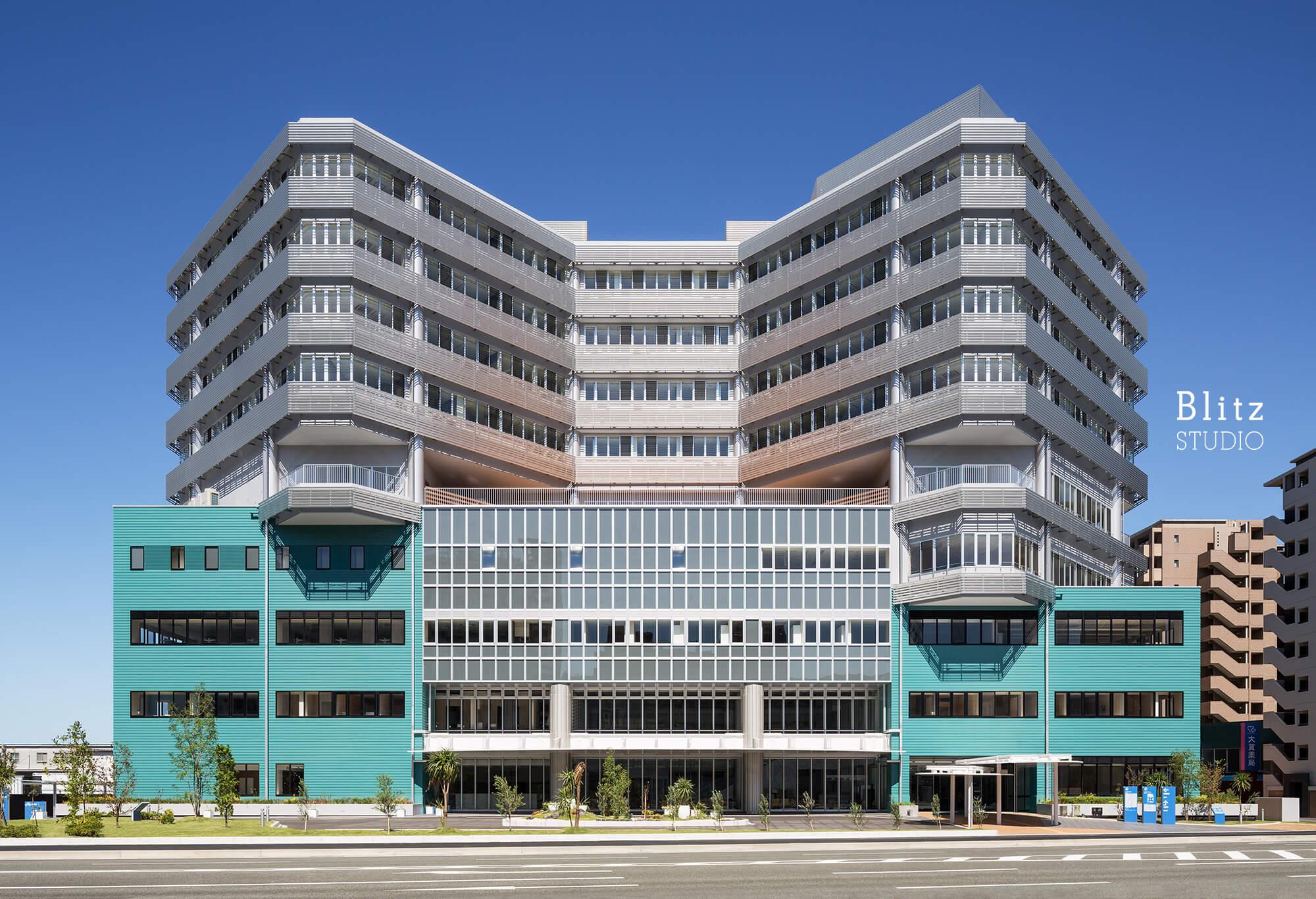 『国家公務員共済組合連合会 浜の町病院』-福岡県福岡市-建築写真・竣工写真・インテリア写真2