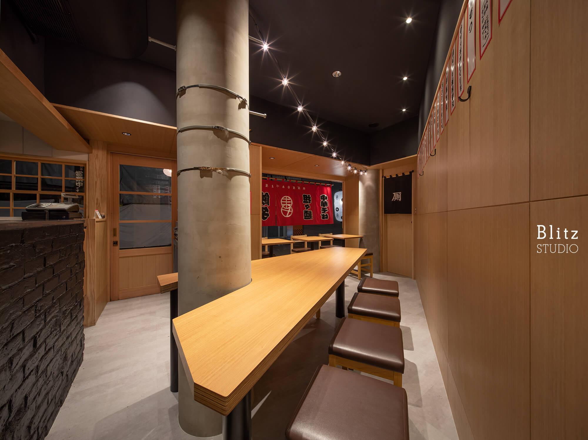 『担々麺 あづま屋 祇園店』-福岡県福岡市-建築写真・竣工写真・インテリア写真3