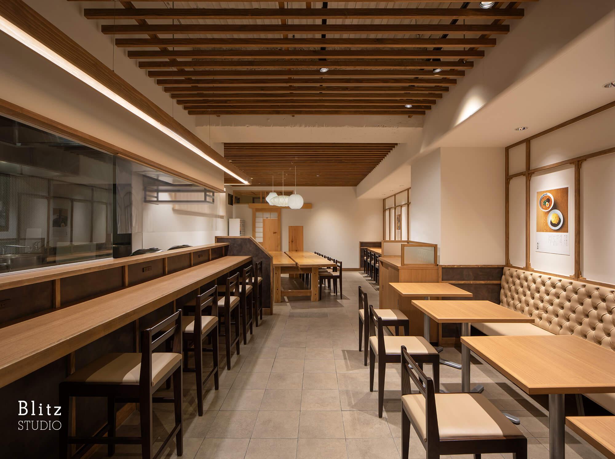 『担々麺あづま屋 天神店』-福岡県福岡市-建築写真・竣工写真・インテリア写真3