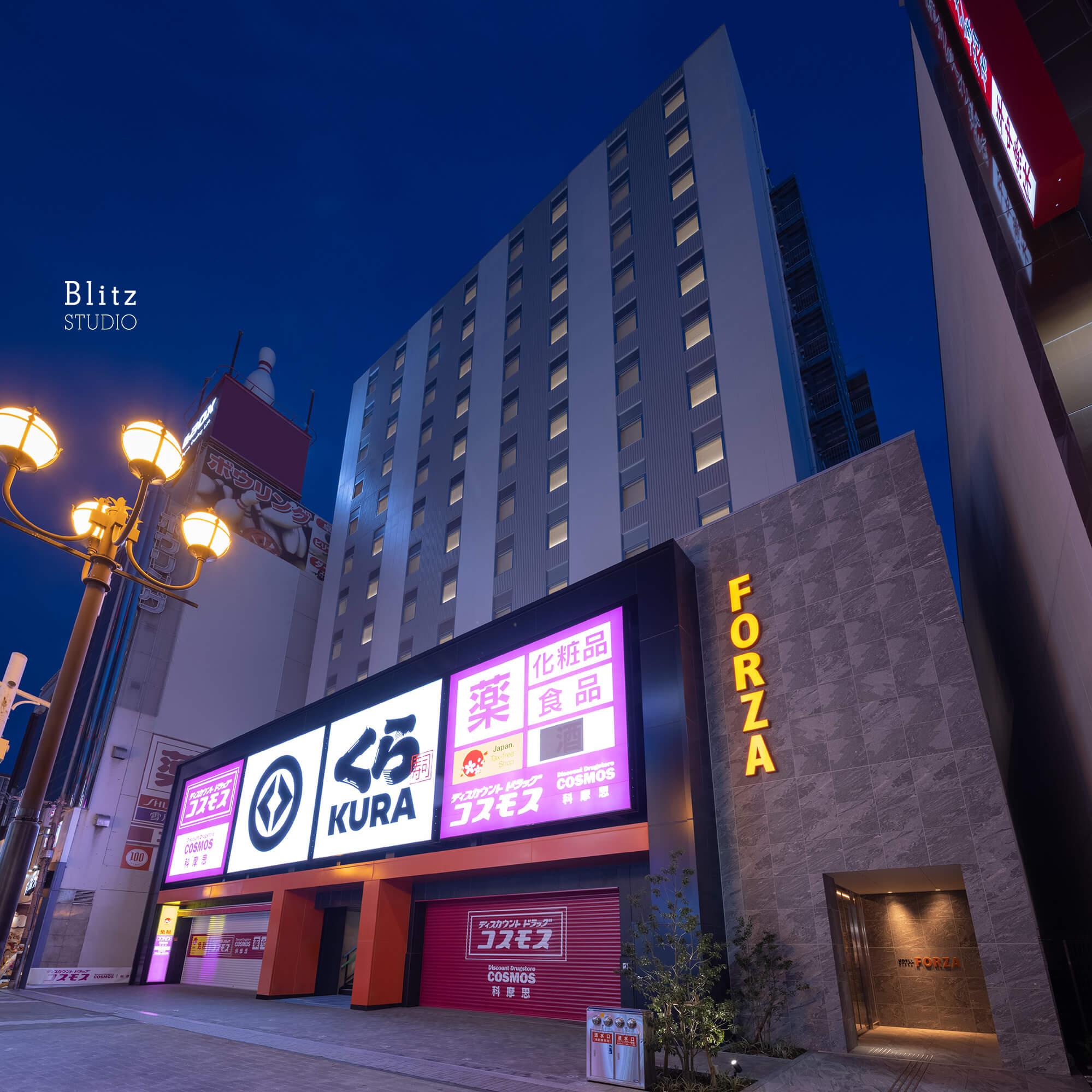 『ホテルフォルツァ大阪道頓堀』-大阪府大阪市-建築写真・竣工写真・インテリア写真1