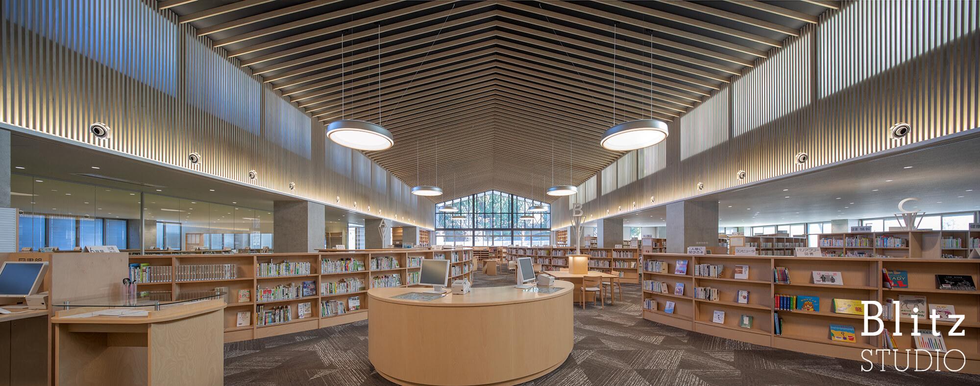 『豊後大野市立図書館』建築写真・竣工写真・インテリア写真8