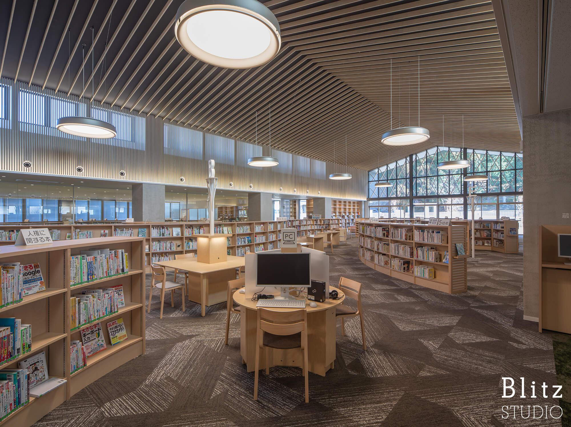 『豊後大野市立図書館』建築写真・竣工写真・インテリア写真9